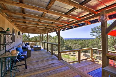 Reboot & recharge at this peaceful Hill Country home near Fredericksburg.