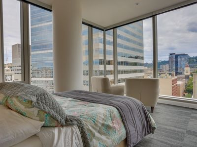 Photo for Upscale condo w/ gorgeous city views & prime downtown location! Dogs ok!
