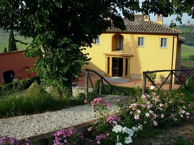 Photo for CHARMING APARTMENT near San Gimignano with Pool & Wifi. **Up to $-449 USD off - limited time** We respond 24/7
