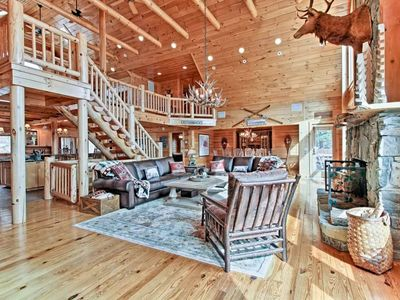 Photo for Custom Lakefront Log Home on Lake George