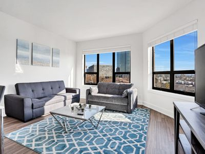 Photo for LUXURIOUS 2BR/2BA!! 1 STOP from NYC!! Sleeps 8!!