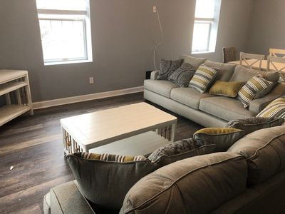 Photo for ** New Renovations for 2020 ** - 20 A Baltimore Ave - Huge Beach Block Condo with Pool, 3 bed 2 bath, Beach equipment included. Off street parking. ** New Shared Outdoor Space, Sleeps 10. **Includes Linens + Towels **
