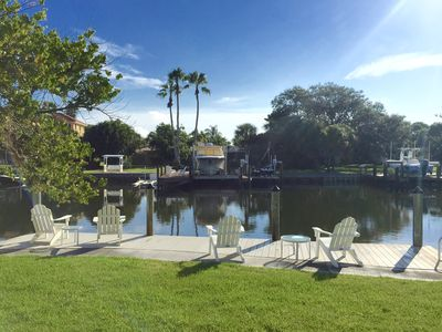 Photo for Beautiful canal front unit! See manatees playing from your living room.