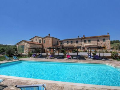 Photo for Lovely Farmhouse in Asciano with Swimming Pool