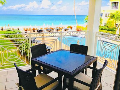 Spectacular Ocean View of 7 Mile Beach from Condo's own private Patio