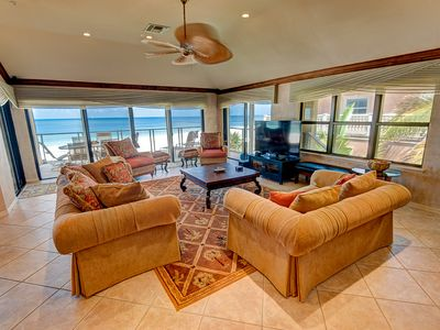 Photo for Fall in love with this amazing beach front condo! Reserve today and save!