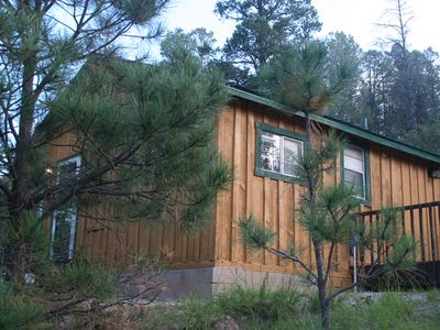 The Fawn Ridge Cabin, ready for you to relax and enjoy Ruidoso in.