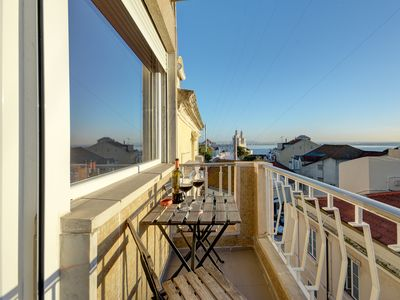 Photo for Sunny Balcony & River Views @ Graça sq  -  Air Conditioning, Heating & Elevators