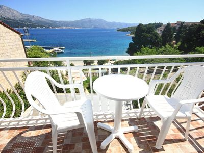 Photo for Studio flat with balcony and sea view Korčula (AS-10051-a)