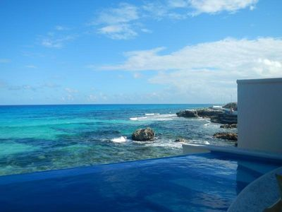 Photo for Casa Perlita - Beautiful Oceanfront Home, 2 Private Pools, in Centro.