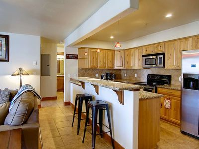 Photo for Off-Season Sale! Mtn View Deck, Community Hot Tub, Free Bus, 5 min Drive Mtn/Town, Steps to Shops