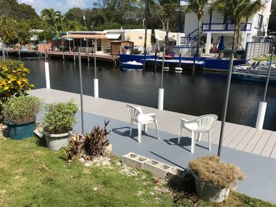 Photo for Comfortable home on a canal  w/ new private dock and ramp!