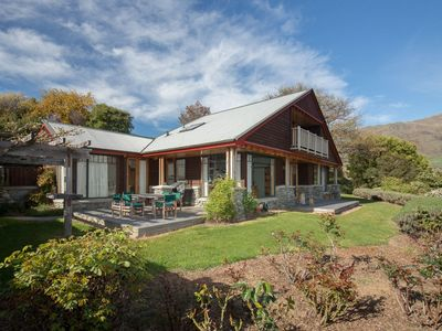 Photo for Views of Lake Wanaka and surrounding mountains from this 4 bedroom chalet.