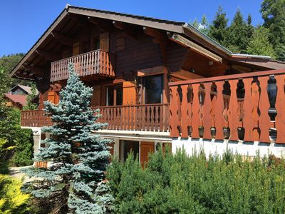 Photo for Magnificent traditional chalet generously sunny on large private estate