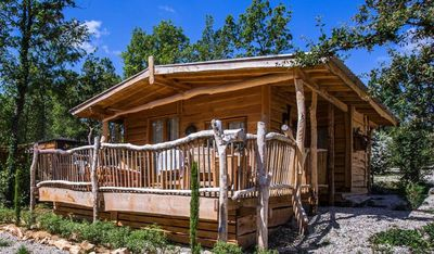 Photo for Camping Les 3 Cantons **** - Chalet Glamping Lodge 4 rooms 6 people