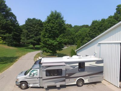Photo for 30' motorhome on private setting.