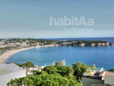 Photo for Apartment in S'agaró with community area and magnificent views to the sea