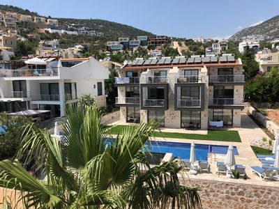 Photo for Stonehaus Apart Dublex 3+1 with Jakuzzi and seaview Kalkan No.5