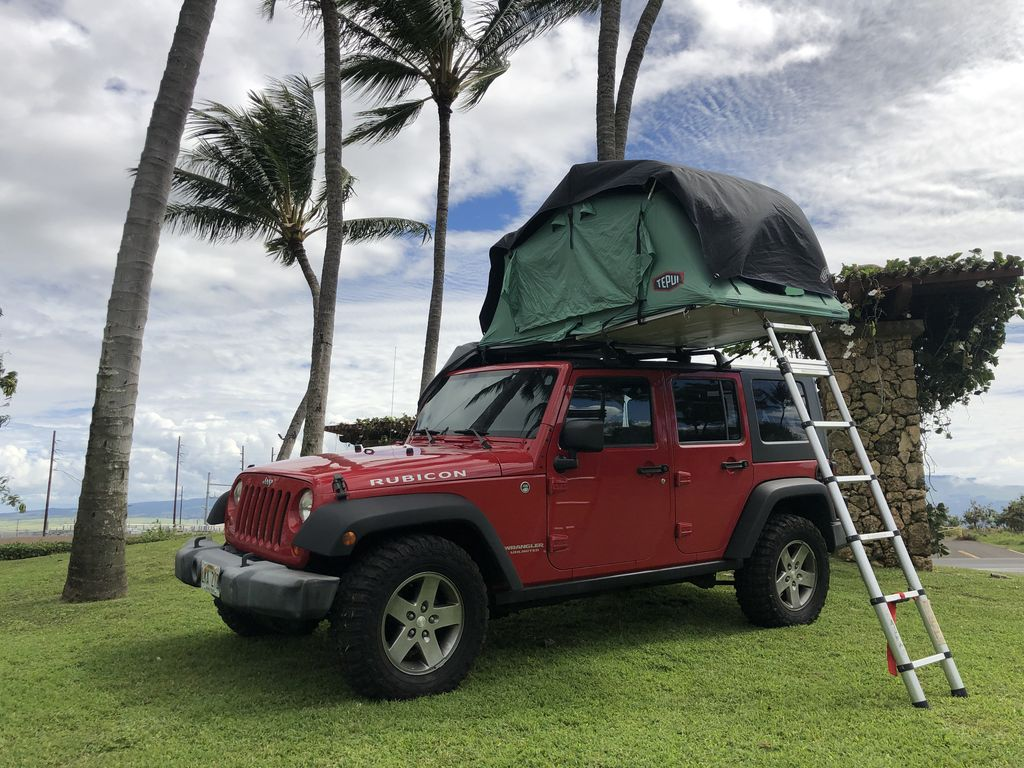 Jeep Wrangler Rubicon 4x4 it is the ultimate pop-up adventure camper  -  Kahului