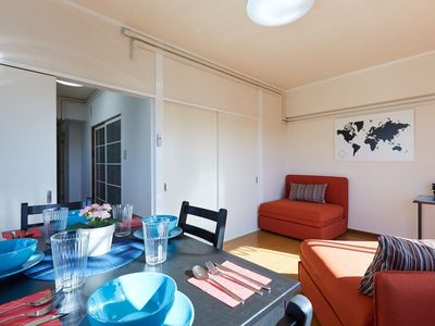 Photo for JR LINES - MEGURO St,  1 BR w/ 2 Single Sofa Beds -View MT. FUJI-clear day