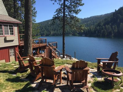 Photo for Waterfront cabin with private dock on Lake Coeur d'Alene