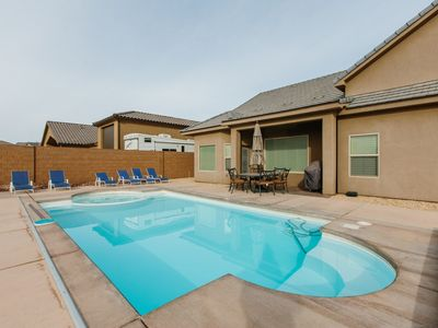 Photo for Adventure starts here - Private pool, Hot tub, explore the dunes, Play at the Lake