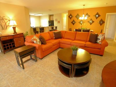 Photo for SPACIOUS 5BD VILLA w/Private Pool & Game RM, Gated Community, Minutes From Disney & Golf Courses