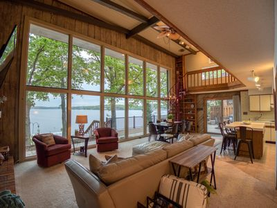 Photo for Stunning Main Channel View! Lakefront 4BR/3BA with Dock, Fire Pit, & Fiber WI-FI