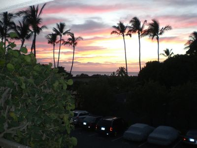 Sunset view from the lanai- views like this happen every day!
