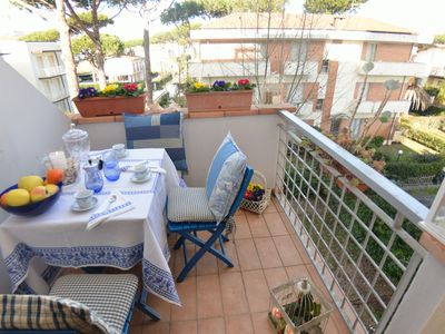 Photo for Nice apartment for 4 guests with internet, TV, terrace and parking, close to Viareggio