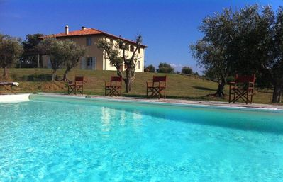 Photo for holiday vacation large villa rental, italy, tuscany, near seaside, casteglione, air conditioning, pool, view, wi-fi inte