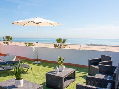 Photo for 2 Bedroom apartment with terrace. Malvarrosa Beach. SUN 7