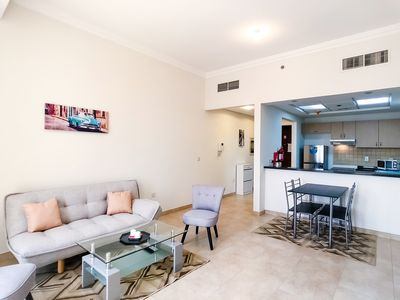 Photo for 1BR Canal Residence with Parking Dubai Sports City