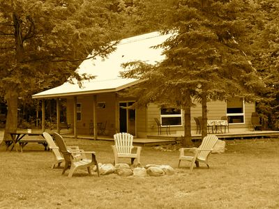 Photo for Enjoy Maple Leaf Lodge  on beautiful Moose Lake in fall!