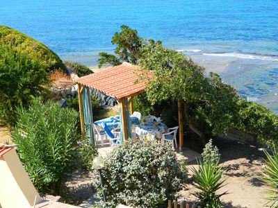 Photo for Apartment Azzurra in Direct Beach Location with Air Conditioning & Balcony with Sea View; Parking Available, Small Pets Allowed
