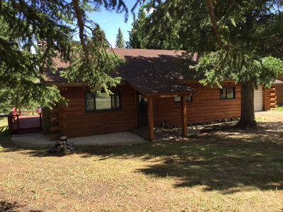 Photo for CABIN ON THE RIVER - 2 BR  W/LOFT 20 miles from NE entrance of Yellowstone