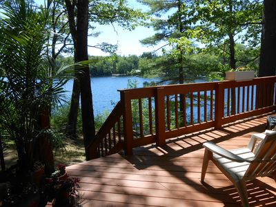 Photo for Sebago Lake - Quiet, Lakefront 2 Bed/2 Bath Cottage - Beautiful Sunsets!