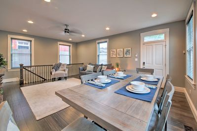 You'll find 3 bedrooms, 3.5 bathrooms and a rooftop deck.