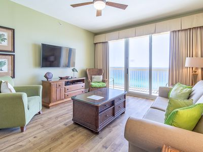 Photo for ☀Beachfront for 8☀Calypso 2-1502W-OPEN June 11 to 13 $1120! 2 Gulf Front Pools