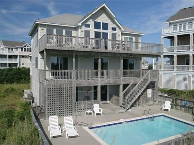 Photo for OCEANFRONT! Walk to pier, food, shopping! w/Htd Pool&HotTub
