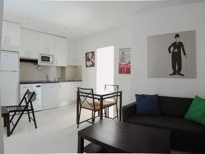 Photo for Great 55m2 furnished flat with two double bedrooms AZBEXIZ
