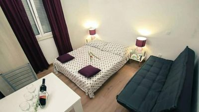 Photo for Studio flat with air-conditioning Seget Vranjica (Trogir)