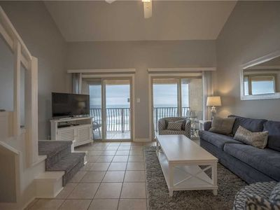 Photo for 48- Come stay where the DOLPHINS PLAY, beach front condo, sleeps 10!  Coral Reef Club