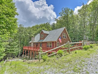 Photo for Beech Mountain Log Cabin w/Private Patio!