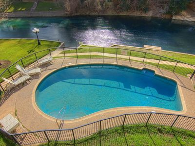 Photo for Fabulous 2/2 condo at Inverness is right on the Comal River!