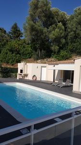 Photo for Charming family villa with pool located in the large Ajaccio