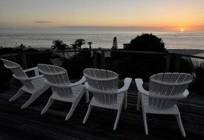 360 degree views from rooftop deck w. front row seats for our fabulous sunsets