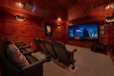 4 Bedroom Gatlinburg Theater Room Cabin With Amazing Views Of Mt Leconte Gatlinburg