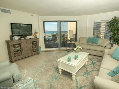 Photo for IR 316 Coastal Beauty in this 2 BR Sunset view condo with washer/dryer