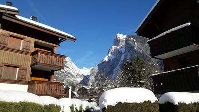 Photo for 2 bed garden apart. in heart of Samoëns